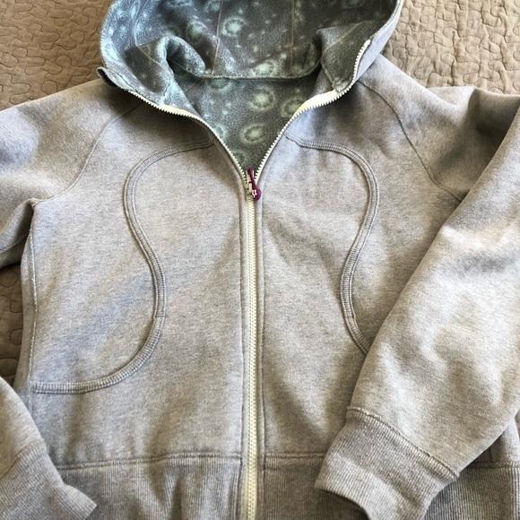 Scuba hoodie flannel lined